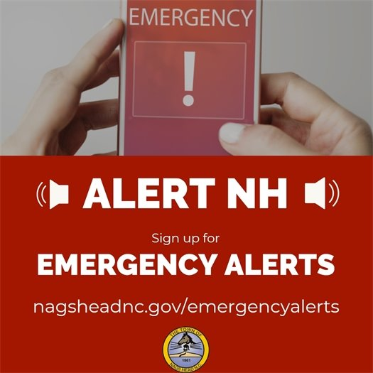 Subscribe to Recieve Emergency Alerts from Nags Head and Dare County Emergency Management