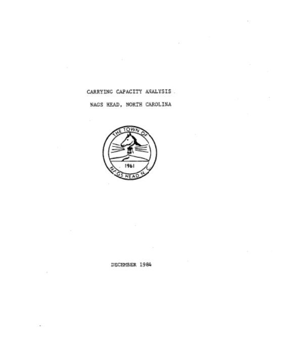 Carrying Capacity Study 1984