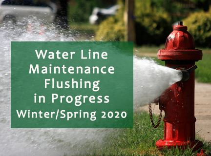 Waterline Maintenance Flushing in Progress 2020