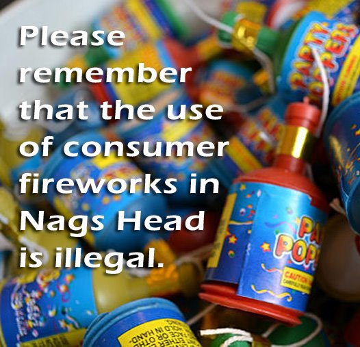 The sue of consumer fireworks in Nags Head is illegal.