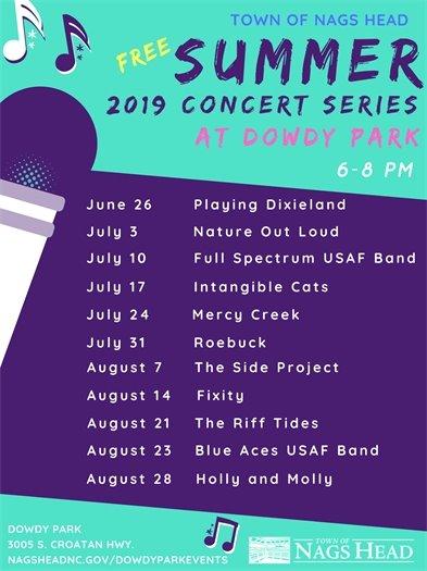 2019 Summer Concert Series at Dowdy Park