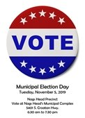 Municipal Election Day November 5, 2019
