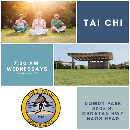 Free Tai Chi at Dowdy Park on Wednesdays at 7:30 am through August 2019
