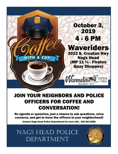 COFFEE WITH A COP OCTOBER 3, 2019 WAVERIDERS
