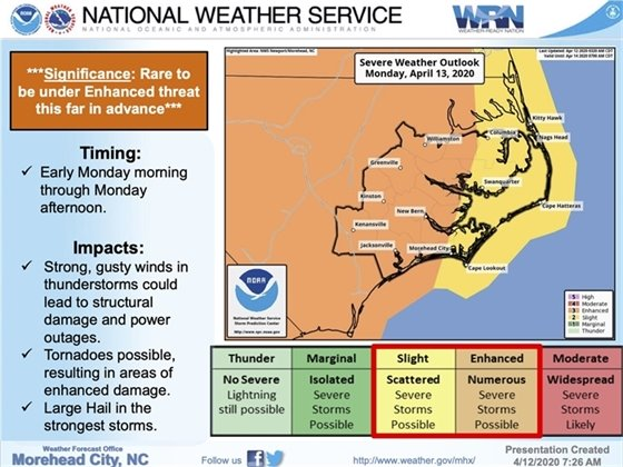 Latest Briefing on Severe Weather April 12 and 13, 2020