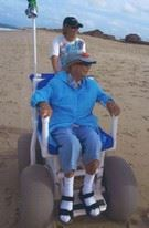 Man in a Beach Wheelchair